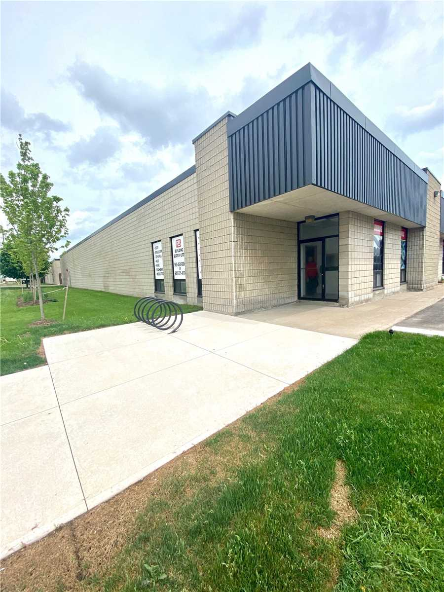 Main Floor Private Office Reception & Sitting Area With Two Offices & One Bathroom, Ideal For Engineers, Accountants, Paralegal, Dispatch Office Or Retail Store. Corner Of Hale Rd & Glidden Rd  With Two Parkings Available For Use. Lots Of Street Exposure. Very Close To Major Highways.
