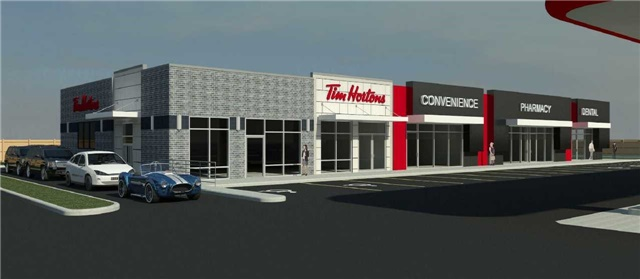 Excellent Retail Leasing Opportunity, In Brand New Plaza With Full Sit Down And Drive Thru Tim Horton's Petro Canada, Very Busy Road With Lots Of New Housing Development In The Area. Opportunity Opens For, Pharmacy, Restaurant, Doctors, Walk In Clinic, Travel Agent And Many More Uses. Act Fast Before It's Too Late...!!!!