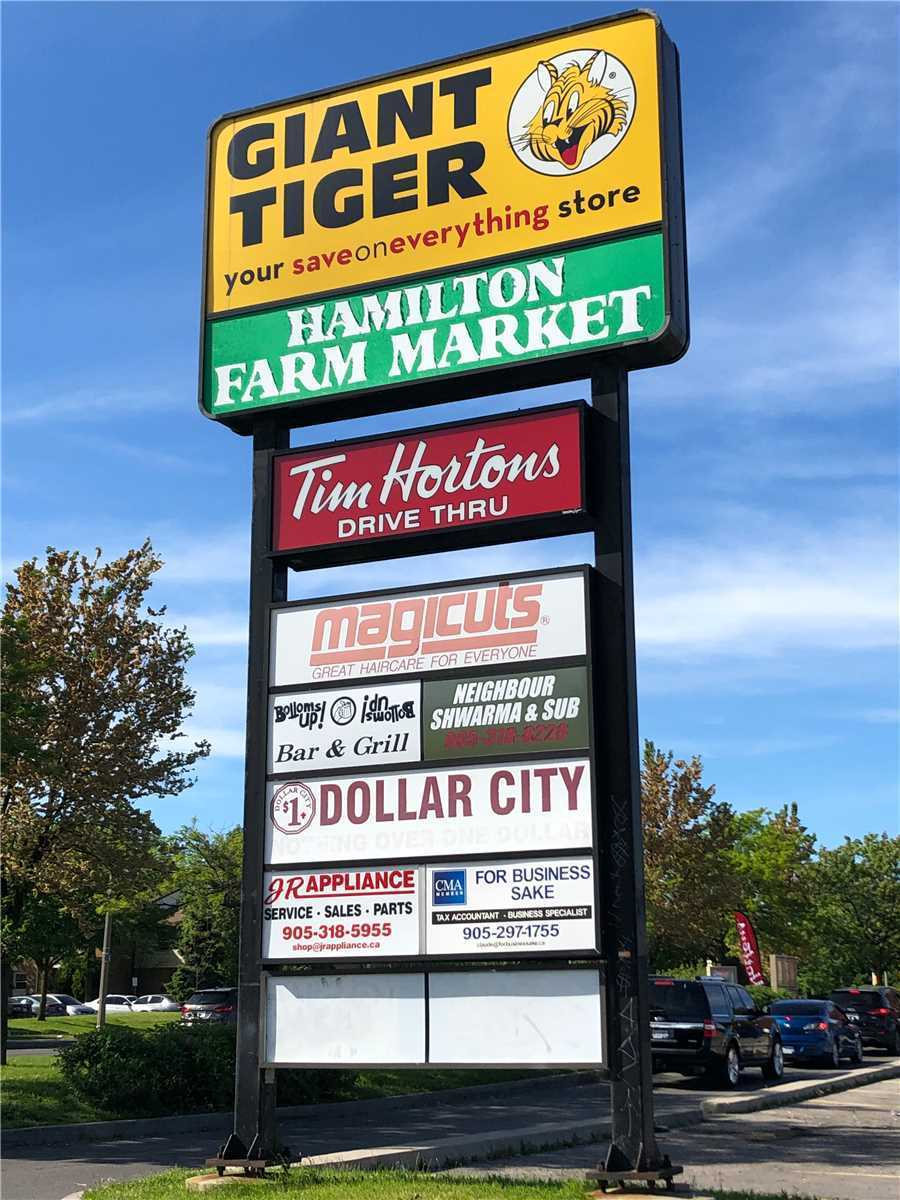 Great Opportunity Offered At Very Busy Giant Tiger Plaza. Commercial Mixed Use. Ideal Location For Retail, Medical, Office, Food Services Like Restaurant Or Speciality Stores. Plaza Has Recently Updated Facade And Parking Lot. Make This An Ideal Location For Any Business.