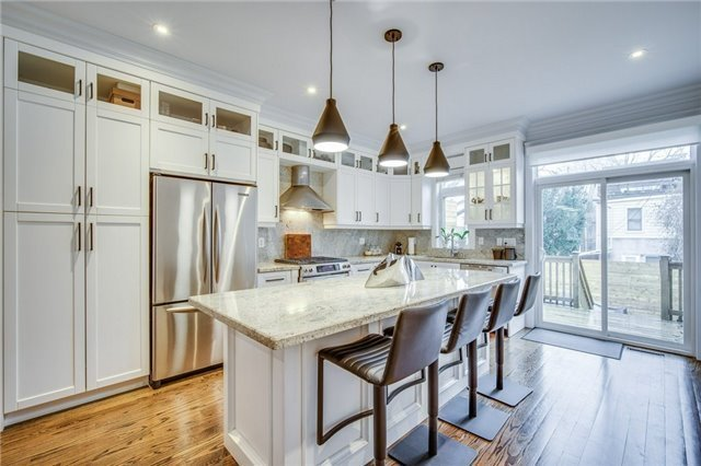 Well-Built, 10 Year Old South Riverdale, 3 Bdrm Townhome With An Exceptional Level Of Finish And Attention To Detail, Solid Hardwood Thru'out, 2 Gas F/P, Open Concept Main Floor W/ Chef's Kitchen, Breakfast Bar & Walk-Out To Private Backyard Oasis. Oversized Master W/ Custom Walk-In Closet, Lux. Ensuite & Private Balcony. Fully Finished Basement With Guest Suite & Rec Room. Easy Access To Transit, Downtown, Financial Core, East-End Restos, Shopping And More.