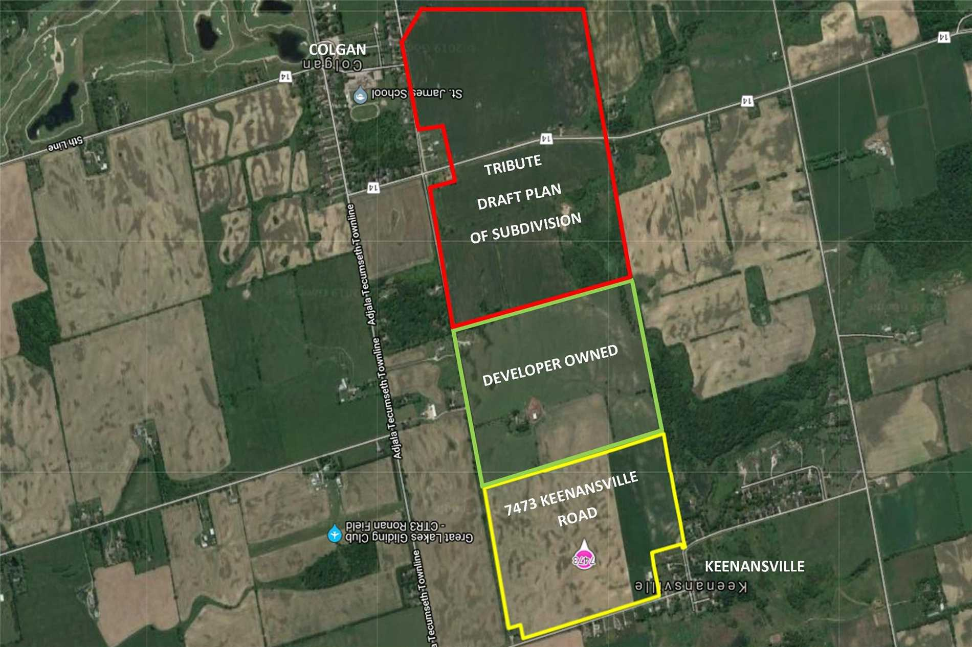 Land Investment Near Approved Tribute Community In Colgan Close To Tottenham. All Clear Workable Land With Two Large Road Frontages, Bank Barn And Farm Help Home. Land Abuts Hamlet Of Keenansville. Excellent Investment Property.