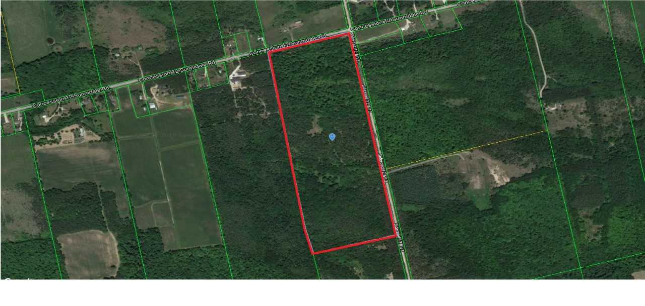 Excellent Opportunity To Own Corner Lot Of 75 Acres W/ Mature Trees With Bungalow 4Rms, 2 Bdrms, Living Room, Kitchen, Separate Storage Shed. Fronts On A Paved Road At The North Side On Con12 Sunnidale. Amazing Location, Great For Summer/Winter Retreats. Sportsman Paradise, Hunting Lovers, 10 Mins Dr To Wasaga Beach, 20 Mins To Collingwood, 30 Mins To Barrie.