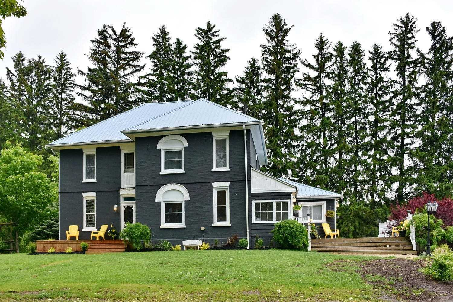 Spacious 1905 Updated Brick Farmhouse. Great Family Home With 4 Bedrooms & 2 Full Baths, Fabulous Country Kitchen, Bank Barn 56'X95', Pole Barn Attached 56'X50', Steel Shed/Garage 48'X21', In-Ground Salt Water Pool. All On 2.5 Acres. Majestic Maples Line The Laneway That Leads To Beautifully Renovated House With Lots Of Country Charm. Surrounded By Views Of Creemore Hills & Farmland. Delightful Village Of Creemore Is Minutes Away