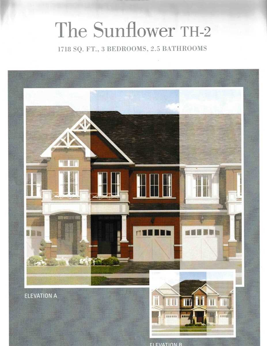 Rare Find Stunning 3 Bedroom Townhouse Under Construction Being Sold Under Builder Approved Assignment Sale. Model Sunflower A Features 1718 Square Feet. Hardwood Floor On The Main Floor, 9 Feet Ceiling On The Main. 8 Feet Ceiling On The Second Floor. 1st Floor Laundry. 1 Car Garage, Master Bedroom W W/I Closet, 5 Pc Ensuite.