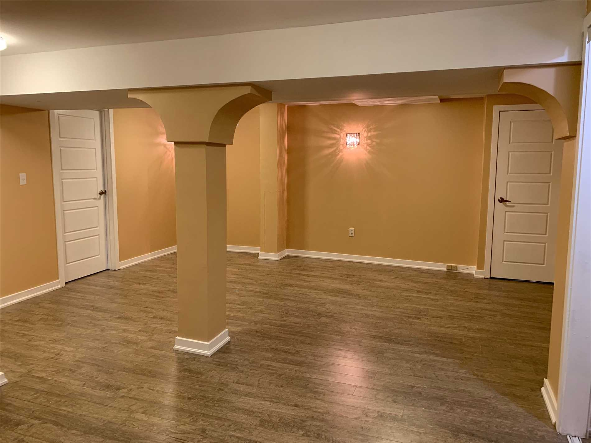 Beautiful Modern Two Bedroom Basement Apartment. Family Room, Dining Area, All New Appliances, Separate Entrance, Separate Laundry With Hardwood Flooring Throughout. Ideal For A Small Family. No Pets, No Smoking .
