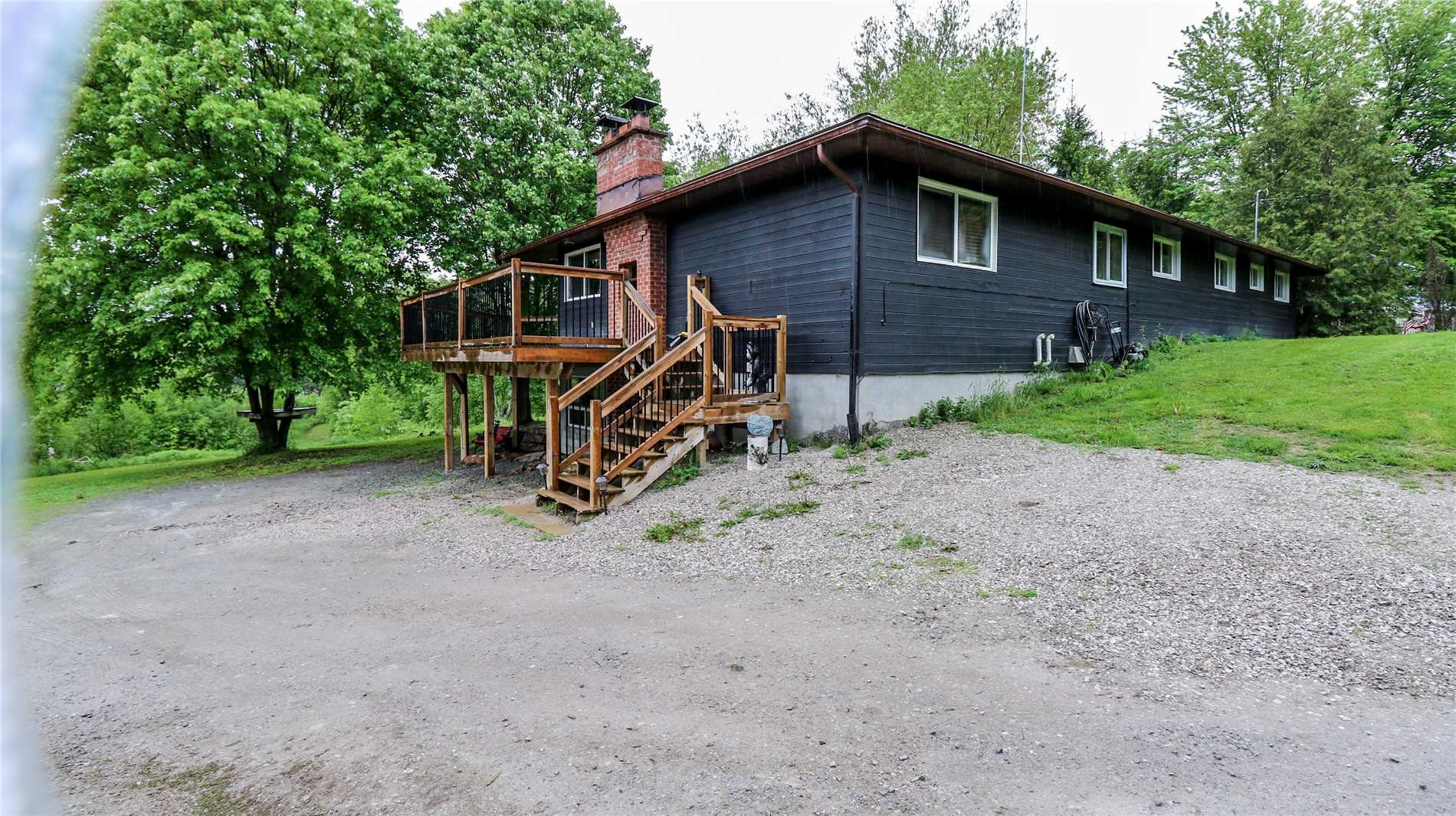 Rare 3 Acre Property On 245 Ft Of Waterfront!  Located Just Outside Washago, This Open Concept Home Has Been Recently Renovated From Top To Bottom. Home Features An Updated Kitchen, Sunken Living Room And Large Family Room With Fireplace.  Enjoy The Best Of Outdoor Living On A Massive Wrap Around Deck, Relaxing On The River Or Tinkering In The Large Insulated Garage. Close To Groomed Snowmobile Trails, Fishing, And Canoeing Come Visit This One Of A Kind Home.