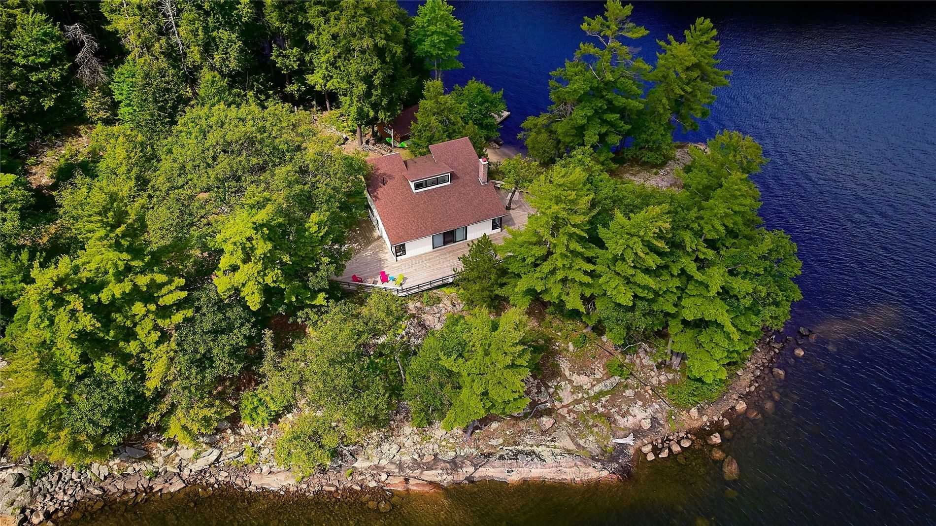 The World Has Changed, And You Deserve Your Private 3.6 Acre Island,1880 Feet Of Frontage, With Two - Natural, And Man Made -  Beaches. Easy Short Drive From Toronto With . Potential For Helipad, And Severance Into 2 Lots.  Paths For Walking, Mountain Biking, In Your Own Private Forest.
