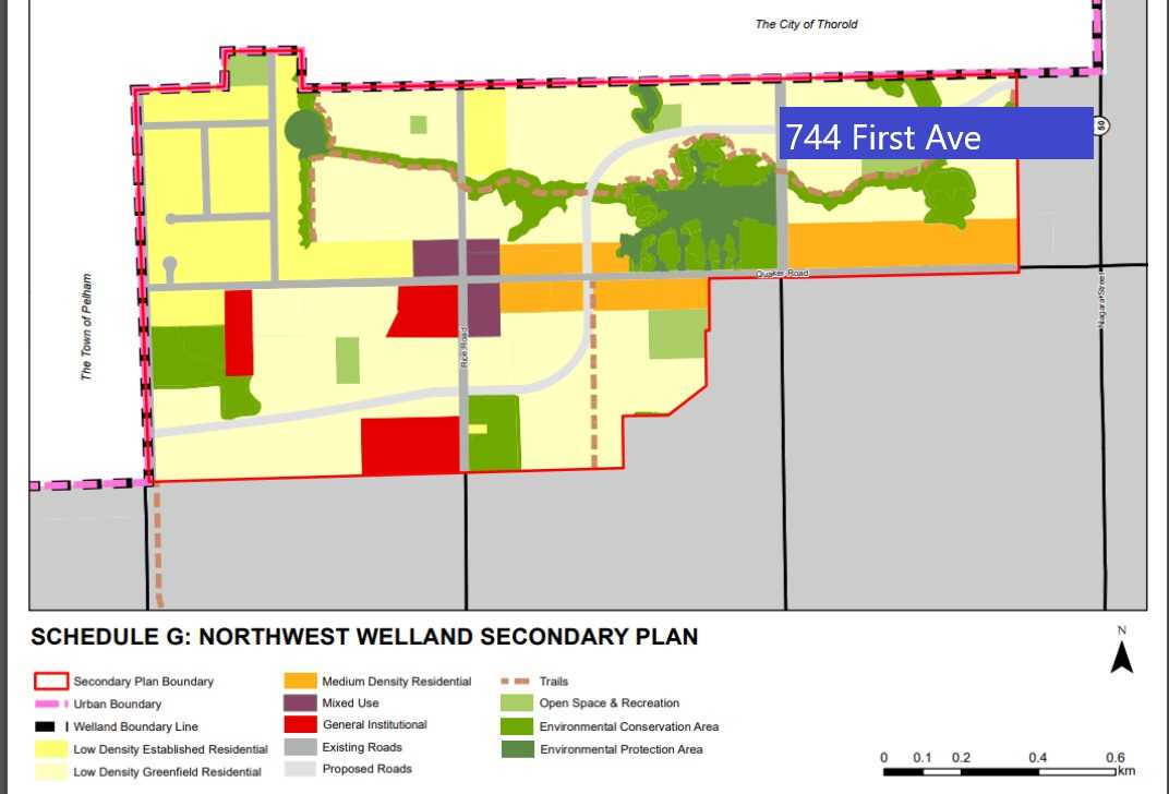 9.58 Acre Near Future Development,As Per Nw Welland Secondary Plan: Low Density Residential. 661' Front X 632' Deep Prime Land W/Residence. Formerly Operated As Driving Range Close 2 Niagara College&Highways 406&Qew; Welland Canal&Welland River; Sports Complex, Quaker Road. Ez Access To U.S.A. Border, Niagara Falls, Lake Erie Shores&Sandy Beaches.Quality Built In 1987 By Roma Construction All Brick 4 Bedrm Centre Hall Family Home Clean&Good Condition.