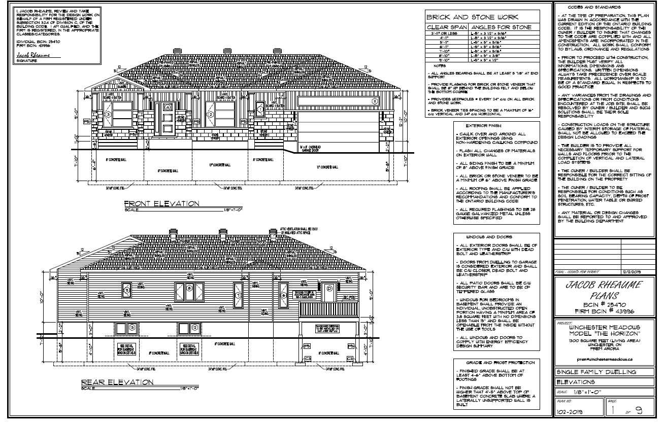 A Brand New 2 Bedroom 1292 Square Feet Bungalow In Winchester, Ontario. The Home Features An Office/Den, 9 Foot Ceilings, 2 Car Garage With Opener, A Front Porch And A Deck In The Back. The Exterior Walls Are Built Using Structural Insulated Panels (Sip's) Making It An Energy Efficient Home.