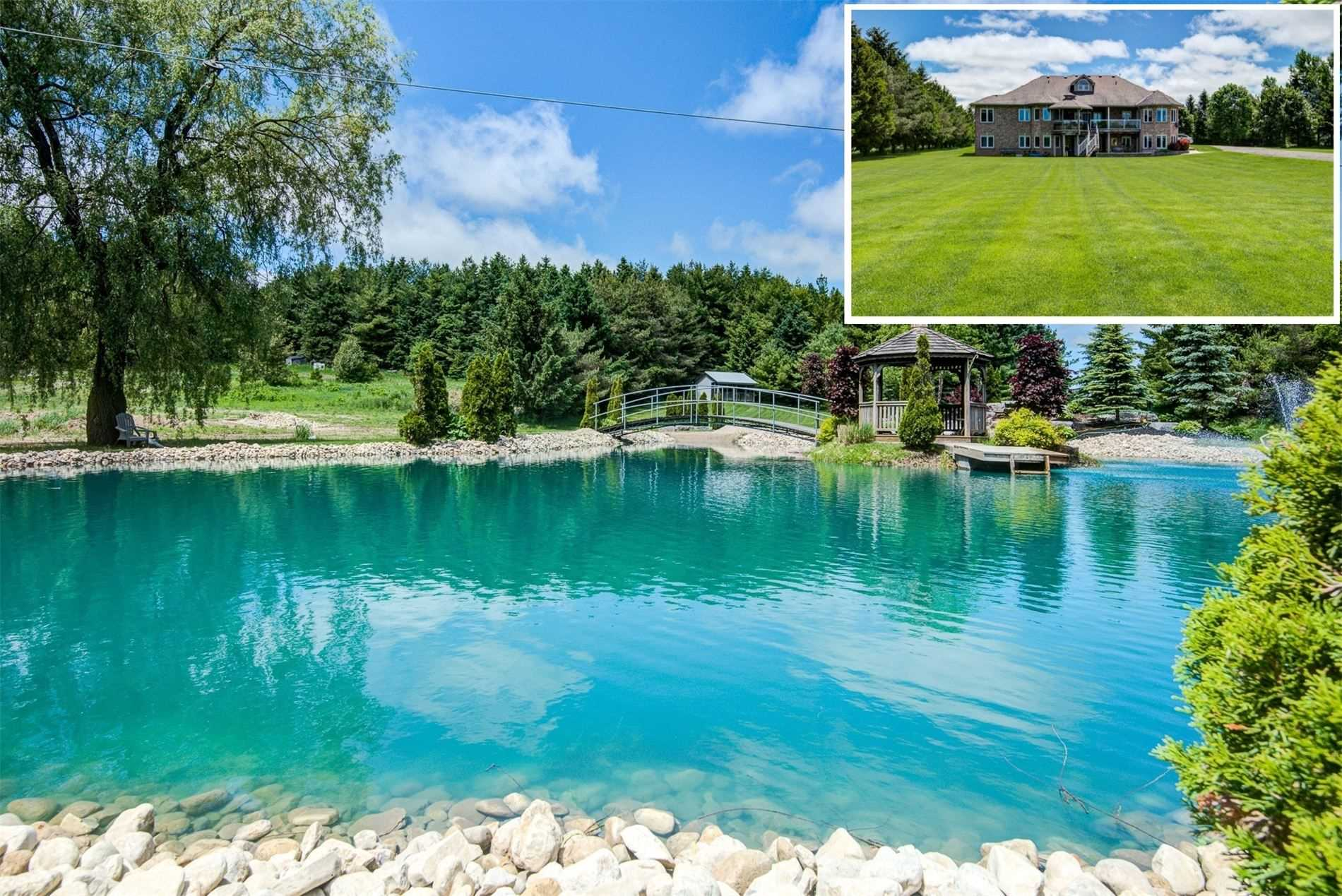 Stunning Staycation Property! Wellington Is Close Enough To The City But In Beautiful Isolation. Kick Start Your Summer In The 17Ft Deep Swimming Pond. Relax In The Sand On The Ponds Beach Overlooking The Waterfall. You Can Walk And Hike Or Snowshoe The 6 Acres Of Land.Lots Of Clean Fresh Air!