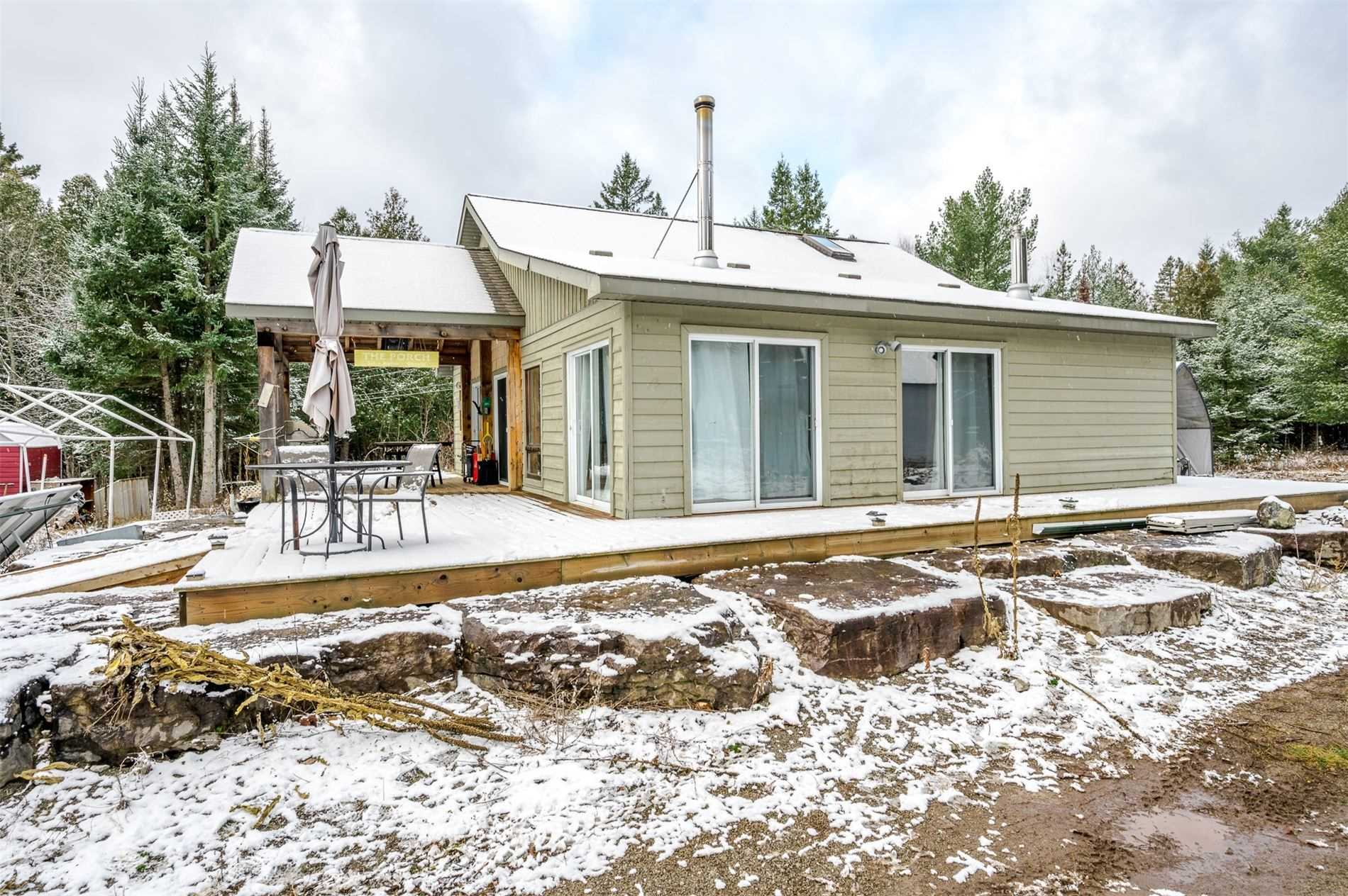 196+ Beautifully Treed Acres W/ Wildlife Galore. Pictures Don't Do The Property Justice. Total Privacy. Yr Round Home W/ 3 Bdrm's + Loft, Open Plan Living/Kit., 3 Pc. Bath, Drilled Well W/ Lots Of Water, Septic, Propane & Wood Stoves, Off-Grid W/ Generator Wired In, Wrap Around Deck + Covered Porch, Det. Shop. To Be Purchased For Personal Use & Enjoyment Only. Buyer Agents & Buyers To Adhere To All Health & Safety Protocols As Outlined In Rlp Showing Policy.
