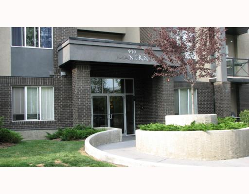 Location, location, location!  Upscale living in the heart of Lower Mount Royal, steps away from the excitement of 17th Ave!  Open concept 3rd floor condo, with 2 bedrooms, one on each side of the unit - great for roommates, 2 bathrooms, kitchen with raised eating bar, dining area, cozy fireplace, balcony off living room (with gas hook-up for the BBQ), in-suite laundry, and lots of storage space! Huge master with walk-in closet & ensuite, granite counter tops, built-in wine rack, stainless steel appliances, in-floor heating, soaker tub & ceramic tile floor are a few of the fabulous things this condo has to offer.  All of this and Indoor heated parking!  You can't beat the location or the lifestyle offered here!  Don't miss out on the opportunity to purchase a condo that has it all! OPEN HOUSE SATURDAY, AUGUST 15: 2-4pm.