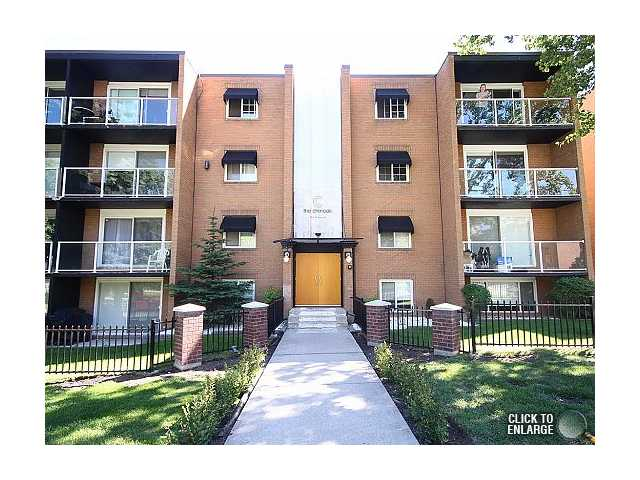 The condo is a top floor, corner unit and features dark engineered hardwood flooring, newer appliances, granite on the center island in the kitchen, beautiful floors in the bathroom and plenty of closet space.  Oh and the balcony is south facing allowing lots of natural light.  The unit was updated fully with the rest of the building in 2005 and is modern and open.  As an added bonus there is in-suite laundry here, and a recycling room in the building.  This beautiful 2 bedroom condo near Chinook mall is close to everything you may want, but is still nice and quiet for when you want to just kick back and relax.  The mall and all of its amenities are just a short walk away, transit and c-train access take you where you need to go, the organic grocery store and local star bucks are just a stones throw away.  Call your favourite Realtor today to book your private showing !!