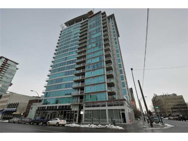 Trendy condo in a newer concrete high rise. GREAT PRICE for this third floor unit with one bedroom, walk-in closet plus office/den, nice size kitchen with breakfast bar, black appliances, in suite laundry and storage, bathroom, balcony, view, polished concrete floor, very bright and it includes titled underground  parking. Located close to all amenities, Located within Stampede park, 17 Avenue shopping, Casino and more. SELLER FINANCING AVAILABLE. You can own your home.