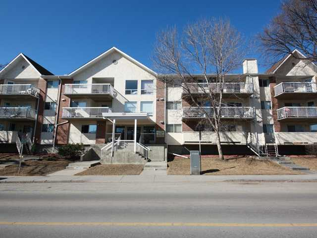 What a great opportunity for you to get into this great adult only complex of Killarney Meadows. This is one of the largest units in the building.  With nearly 1200 sq. ft of living space, this unit is on the main floor and has a separate entrance from the outside as well as through the main entrance.  There is a single titled parking stall that also has a storage locker in the same stall.  There is also a large storage/laundry room within the unit itself.  There is a galley style kitchen with oak cabinets and plenty of counter space.  The dining area is spacious enough to accommodate a large gathering.  The living room has bright windows and the exit to the outside deck.  The master bedroom can easily handle a king size bedroom suite and has a walk through closet to the 4pc. ensuite.  There is also a spacious 2nd bedroom for your guest or room mate. Located only a short drive to downtown, close to the Killarney Aquatic Centre and 17th Ave., you will not be disappointed here.  Call today