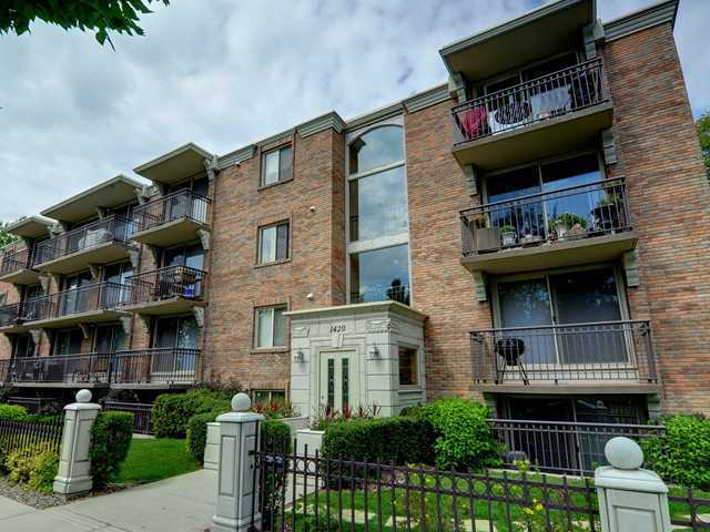 Welcome to The Kensington Riverside Condominiums! These don't come on the market very often in this amazing concrete building! One of the most desirable locations in the city, across from the Bow River, walk to downtown & Kensington shops. This modern, open concept 2 bedroom condo shows 10/10 with granite counters, stainless steel appliances, hardwood floors & insuite laundry! This one won't last!!