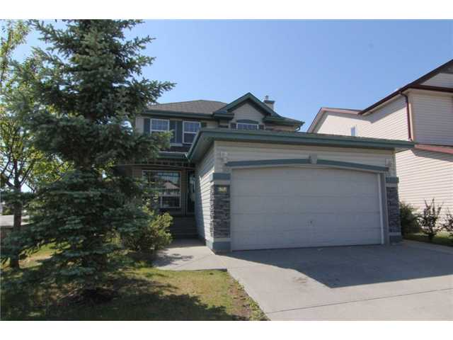 """OPEN HOUSE SAT AUG 11TH 2-4:30 * PLEASE CLICK ON """"VIEW MULTIMEDIA"""" TO VIEW VIRTUAL TOUR * Get in before school & watch your kids walk there!  This 2 storey home is located in a perfect spot and is ready for you to call it home! Main level: open concept kitchen/living area, dining room, 2 piece bath with laundry room conveniently tucked in beside it. Upper level: 3 generous sized bedrms including large master suite with 4 piece en suite bath & walk in closet, another 4 piece bath rounds out the upper level. The basement is almost finished & incl. a rec room that is wired for 7.1 surround. Outside the massive SOUTH facing yard is sure to please - HUGE 18x17 deck AND dyed/stamped concrete patio, wrap around verandah BBQ line, large shed & lots of mature trees! Other treats: real hardwood flooring on main AND 4 boxes of matching Chocolate Ash hardwood incl, underground spklers, bath rough-in bsmt, water softener & fresh paint throughout! Location is 10/10: 2 blocks - K-4 School & Water Park - 5 blocks - LRT!"""