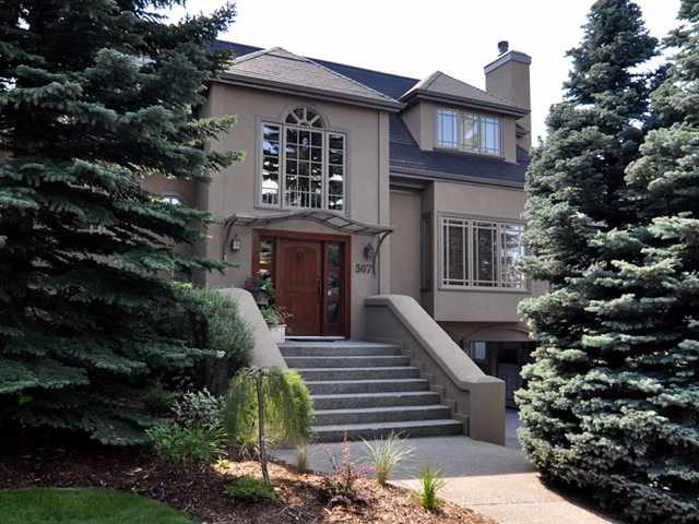 OPEN HOUSE SAT MAY 18, 12-3PM STUNNING HOUSE! LOCATION, LOCATION BACKING ON TO STANLEY PARK AND THE ELBOW RIVER pathways. This wonderful property offers a unique blend of vibrant inner city access and private, elegant living.   Fully renovated by Richard Lindseth architecture Inc. in 2001 and extensively updated in 2011-12 by Morris Cooper Residential Design including the addition of an expansive covered deck with skylights, sound system, gas fireplace and built in gas heaters for year round enjoyment.  Other features of this wonderful home is a master suite with private sitting room, 3 add'l bdrm/3.5 bath, 4 FIREPLACES, sound system throughout and  fantastic WALKOUT BASEMENT. Enjoy the south facing VERY PRIVATE professional developed back yard. RIDEAU PARK is one of Calgary's best kept secrets with wonderful walking/cycling paths connecting you in less than 5 minutes to fine dining/shopping and the exceptional Rideau Park School.  Steps away from Elbow river - this is a year round dream location!!