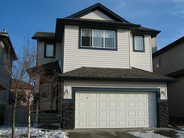 """Open House Saturday April 20 and Sunday April 21 2-4""  Welcome to your new home!  Located in the heart of Evanston, the size, floor plan and extras that this home have to offer are sure to impress!  Let's start with the main floor offering a huge living area open to the dining room and kitchen.  The oversize South facing windows allow for lots of natural light to flood the house, making this the home and backyard a place to enjoy the sun long into the evening.  Upstairs you will be greeted by a massive open bonus room with views stretching as far as Nose Hill.  Three bedrooms, two bathrooms and a laundry area complete the second floor.  The basement is unspoiled and ready for your finishing touches.  Need public transportation, no problem the bus stop is across the street!  This home has a double attached front garage and has the added benefit of a back lane, perhaps for a second garage or workshop.  Evanston is a growing community with Sobey's and other great amenities coming soon!"
