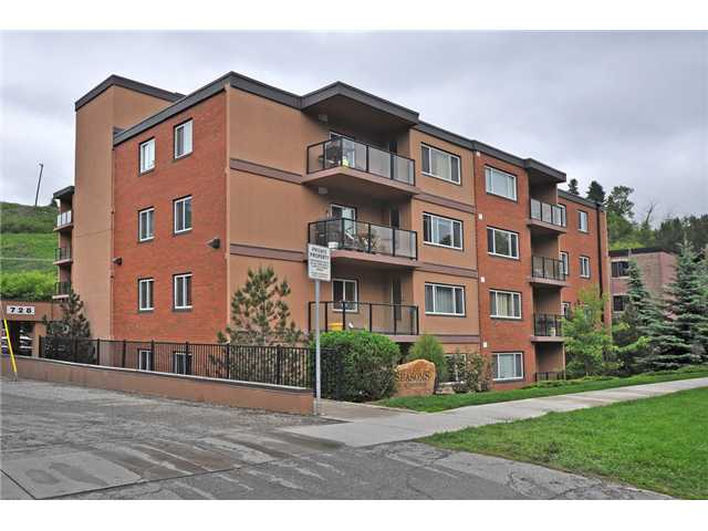 DRY concrete building in the heart of Sunnyside. Oh so close to all of the trendy restaurants & shops. This location can not be touched. Located on the 3rd floor with green space views from all of your windows & balcony, this 2 bedroom unit is sure to impress. This building was completely remodeled in 2007. The living room is spacious & has a feature fireplace. The windows on this end unit allow more light to pour in. The kitchen has granite & stainless appliances, a pantry & plenty of cabinet & cupboard space. Both bedrooms are a generous size but the master bedroom is huge. Both have large walk-in closets. There is a laundry closet & the washer & dryer are staying. The 4 piece bathroom has a separate shower & tub, there is also room for your linen. This unit has one assigned off street parking stall & there is plenty of street parking. Although there is great storage in the unit it could be possible to rent a storage locker. This charming unit is a must see.