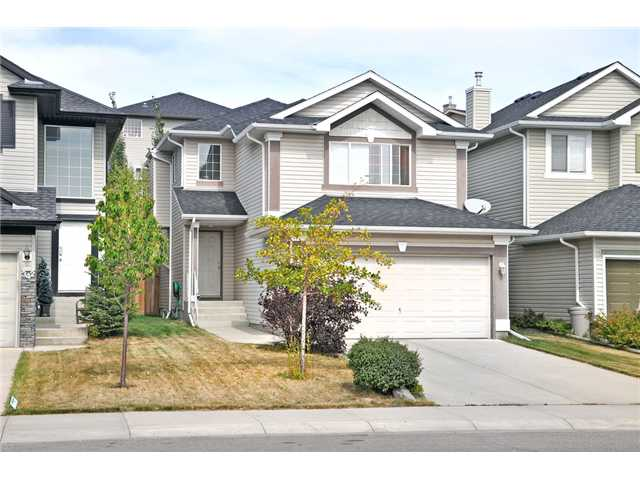 It's hard to find homes in Calgary in this price point with a double attached garage, bonus room  and developed basement. If you are looking for an investment property or a starter home, this property is located close to parks, shopping and transit. As you enter you will appreciate the open concept. The living room and breakfast nook both have views of your beautiful landscaped yard and deck. The kitchen has plenty of cupboard and counter space. Completing this level is a 2 piece bathroom with a neatly tucked away laundry closet. Upstairs you will appreciate a large south facing bonus room, complete with corner gas fireplace. This area is sure to become a family favorite.  The master bedroom is a generous size and has a huge walk-in closet and 4 piece ensuite.  You will also find 2 more bedrooms and a 4 piece bathroom on this level.  The newly developed basement is well laid out and has a great room and den area. The seller is flexible with possession. The roof was replaced in 2010.