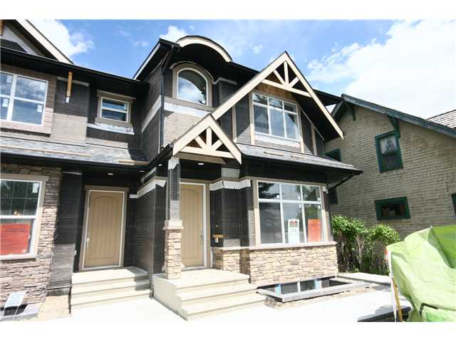 Beautiful Brand New infill in Parkdale across from the River. Unique design & layout offering over 2,800 square feet of total living space. Main Floor has 10 foot ceilings with hardwood flooring throughout (tile at entrances), living room with gas fireplace, kitchen with a huge island & tons of cabinets (stainless steel appliances & granite countertops), dining area with a 4 section patio doors/windows, step-down powder room, & a mudroom. Open & spacious 2nd floor with beautiful skylights, Master bedroom with a view of the river, walk-in closet & a fantastic ensuite, 2 additional bedrooms, a full bath, linen closet & laundry room. Basement has a 4th bedroom, full bath, wet bar, & a huge living/rec room. All high-end products & quality finishings. Close to all sorts of amenities such as schools, shopping, restaurants, grocery stores... Minutes from downtown.  Click on the virtual tour for panoramic views & lots more pictures. Price includes almost $35,000 GST. Built by Prominent Homes (Master Builder).