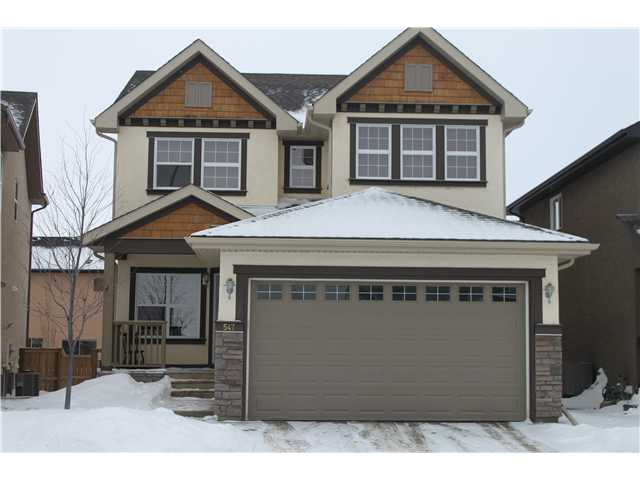 Perfect Family Home!!!! This well located 3 bedroom 2.5 bath home is ideal for the growing family in the great community of Evergreen. The covered front porch welcomes you as you enter the home and move past the front flex room, perfect for that formal dining area or family office. The main floor sprawls with beautiful maple hardwood floors, 9' ceilings and an open concept kitchen/living room area perfect for entertaining. Stainless appliances, main floor fireplace and custom built-ins warms up the familyroom area where you'll spend most your time. Upper floor boasts a bonusroom, great for kids and media center and 3 spacious bedrooms with great natural light. Master bedroom is large with south facing windows and a dream 5-piece ensuite with double vanities and separate tub and shower. The basement is unspoiled as they say and the yard was professionally landscaped this past year and all set for the summer. Parks, schools and amenities all within walking! OPEN HOUSE SATURDAY JAN. 18th 1:00 - 4:30!!!