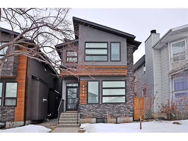 No waiting for your newer dream home. Built in 2012 this Vicon Homes home is ready for immediate possession. Gently lived in for just over a year this home is as good as new. Many of you have come to know the quality & style of this builder. As you walk up the exposed aggregate walk-way & stairs, notice the attention to detail starting with the exterior. As you enter the modern but warm feel will make you want to see more. The living room has a floor to ceiling tile fireplace with built-ins. entering the kitchen you will find a Viking appliance package that would make any chef proud. There is plenty of cupboard space & the pantries all have pull out drawers. Love to entertain? There is a clever serving counter between the kitchen & dining room. Often missed in inner-city homes is a back mudroom. This home features both a back closet & lockers. Upstairs you will find one of the prettiest master retreats. The basement has stunning stained, heated concrete floors & the 4th bed & Bath. Don't miss out.