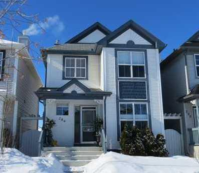 A modern styled home in the heart of Prestwick. Over 1350sq ft in this open concept  Heartland built home. The high ceiling foyer welcomes you with a den - office just off to the side. The large open Kitchen - Dining - Living room combo makes for a great place to eat, chat and have fun. The kitchen has stainless steel appliances and with a back door just off to the side, your BBQ is just a few feet away.  The LARGE and VERY sunny deck invite you to spend the summer days with your friends. Also out back is a two car parking pad, ready for you to build a new garage on if you wish. Back inside you will find a large Master Bedroom with a walk in closet and a 4pc ensuite. Two other nice sized bedrooms and another 4pc bath finish off the upper level. The basement was partially finished by the previous owner ( no known permits) is ready for you to complete.