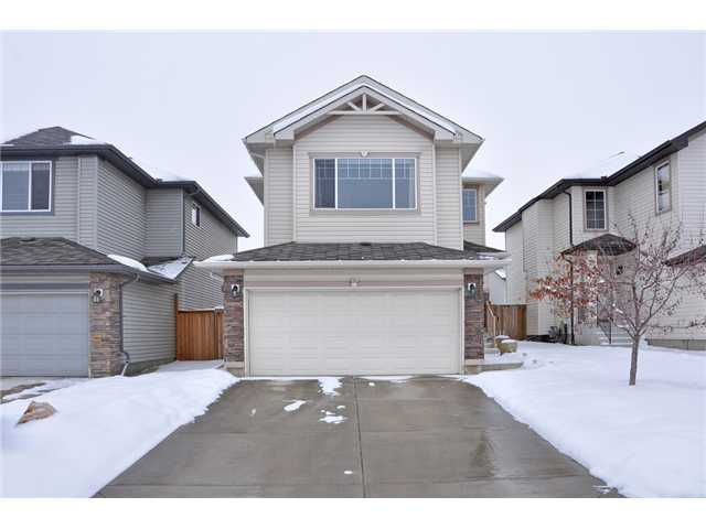 Here is a great opportunity to get into the Calgary market under $450,000 in a great community, across the street from the school & close to shopping & transit. As you enter you will appreciate the hardwood floors that cover the majority of the main level. The living room opens up to the kitchen & dining area. Upstairs you will fall in love with the large bonus room. This is a fabulous place to relax & enjoy your fireplace & mountain view. The master bedroom will easily handle your king size bed. There is also a private 4 piece ensuite. This level is complete with 2 more bedrooms & another 4 pc bathroom. If you are looking for yet more space, wait until you see the basement. Complete with stunning maple hardwood & a walk-up bar, this area would make a great media room or entertainment area. Outside enjoy your fenced yard complete with a dog run & concrete pad ready for your camper or RV. Don't miss the opportunity to get into a home with a double attached garage at this price.