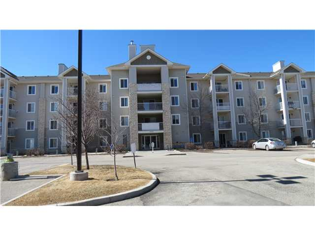 Welcome to the Point of View in Bridlewood.  This ground floor corner  unit  is large and spacious, over 1000 sq ft.  It has two bedrooms, a large Master with walk in closet and a 3 pc ensuite. The second bedroom is of a good size and is situated next to the other bathroom. The living room is large with a gas fireplace, the Kitchen and break fast nook make up the rest of the floor plan. This unit has in suite laundry, titled parking in the underground heated parkcade, with a titled storage unit right next to the parking stall. This complex is just minutes away from shopping, the highway, transportation and schools.