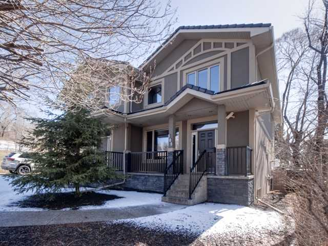"""***OPEN HOUSE SUNDAY MAY 4th 2-5PM***Eco Friendly 2 Storey Infill on a quiet cul de sac built to R2000 specifications! This quality home is loaded with upgrades throughout.Built with ICF (insulated concrete forms) construction from bottom to rafters, triple pane glass, slab heating, instantaneous hot water heater, built in audio control system and security video and more! This home has an open floor plan with upper end Jennair stainless steel appliances. Main level offers large dining room and family room with corner gas fireplace. Upper level includes huge master bedroom with 5pce ensuite, 2nd and 3rd bedrooms, 4 pc bath and laundry room.Lower level is fully developed with bedroom, rec room and 4 pc. bath.  Hardwood flooring throughout main floor and stairway, slate at front and back entryways. A Control4 home automation system distributes audio to 7 rooms and video to 40"""" TV in Family. Lighting/heating control/remote access. This wired home has Internet and Sound system in almost every room."""