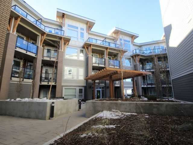 "Gorgeous 1 bedroom condo has 2 ADJACENT, UNDERGROUND PARKING STALLS (Seller paid $20,000 for 2nd stall) in the sought after building ""Next"" in Bridgeland. This modern 638 sq ft unit faces the courtyard & has a beautiful kitchen featuring quartz countertops, under mount sink, stainless steel appliances, lots of cabinets, under cabinet lights, lovely tile backsplash & a large eating bar. Enjoy the bright dining/living room with 9' ceilings, huge windows & door to deck with gas hookup.  The master suite has plenty of room for a king-size bed & features a walk through closet that leads to your bathroom & laundry area.  The layout of this unit is very functional & includes insuite storage, tech station, additional storage in underground parking & 2 ADJACENT, UNDERGROUND PARKING STALLS (heated).  Building amenities include 2 gyms, car/dog wash bay, bicycle storage & underground visitor parking.  All of this plus it is located within steps to trendy restaurants, shops, transit & walking distance to downtown!!!"