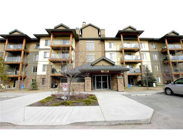 A great opportunity to own a fantastic condo with lake privileges in the popular lake community of Crystal Shores! This unit with one bedroom + den features maple kitchen cabinets, breakfast eating bar, black appliances, 9' ceilings, in-floor heating, in-suite laundry, a walk through closet to the cheater en-suite and a balcony for enjoying that summer sun. This unit also comes with underground, heated parking (located close to underground wash bay, a storage unit and access to the amenities building which includes a weight room, sauna, hot tub, pool table, shuffle board tables, wet bar and a big screen TV's. Located a short walk to the community lake, shopping, golf courses and all the amenities in Okotoks makes this the perfect place to call home. Call to view today!