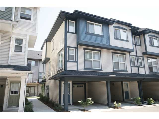 Open House: August 9th: 2:30-4:30pm. Here's a fantastic 3 bedroom, 2.5 bathroom townhouse in pristine condition in the wonderful community of New Brighton. This bright and spacious, open concept unit features rich espresso kitchen cabinetry with breakfast eating bar, black appliances, decorative tile back splash, modern lighting fixtures, 9 foot ceilings, neutral designer paint colours and a balcony just off the kitchen. Upstairs there are three spacious bedrooms, including a master with a private three piece en-suite, a common 4 piece bathroom and upstairs front loading washer and dryer. There is a single attached garage as well as a covered carport ideal for tandem parking. Located close to all the shops on 130th avenue and just down the road from the future New Brighton School and the New Brighton recreation park makes this a great place to call home! Watch the virtual tour and Call Now!