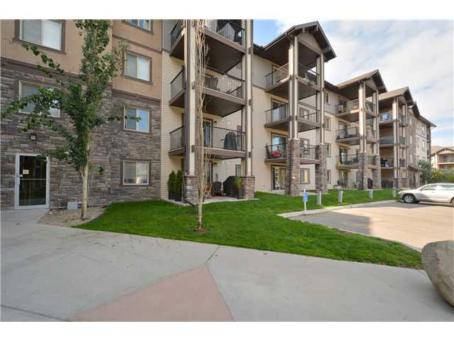 Don't miss this popular two bedroom + den and two bath floor plan with modern d?cor in the wonderful northwest community of Panorama Hills! This unit with open concept features a fantastic kitchen with tile floor, granite counter tops, dark mocha cabinetry, stainless steel appliances and a raised breakfast eating bar. The living room separating the two large bedrooms is bright and spacious with plenty of room for the home entertainment system. The master bedroom features a large walk through closet and a private four piece en-suite with granite counter tops. The second bedroom also provides plenty of closet space and has access to the common 4 piece bathroom featuring granite counter tops as well. The den is tucked away and perfect for a home office or kids play area! The deck receives plenty of sunshine and has an ample amount of space for patio furniture and a barbecue. This unit also comes with in-suite laundry, secured underground parking and a very large storage room! Watch the tour and call now!