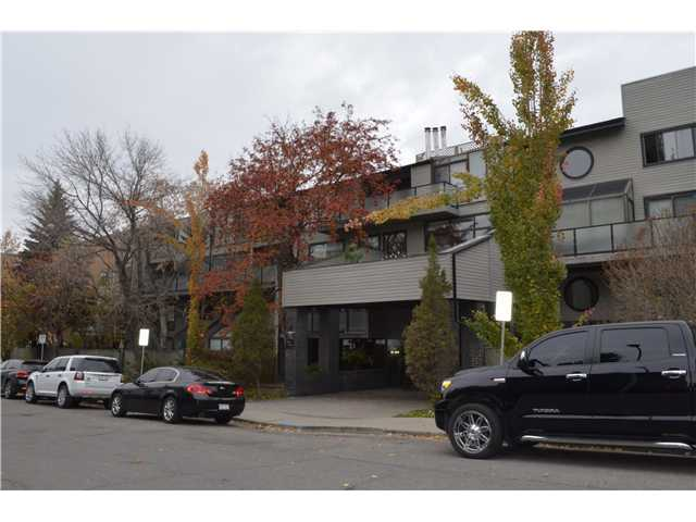 "Open House Sat  and Sun - Nov.22 and 23 from  1-3 pm . ""PRICED TO SELL"" Welcome to the Chelsea Terrace. Units in here do not come up for sale often - and this one is a MUST SEE!! The living room welcomes you with west facing floor to ceiling windows that soar 20'. There is also a cosy wood burning fireplace to curl up by. Off the living room is a west facing balcony, great space for a bbq and outdoor furniture. Easy to entertain in this lovely kitchen with stainless steel appliances, granite countertops and a wine/beverage cooler. Main floor bedroom can be used as a bedroom, family room or an office. Upper level has a loft area you can use for your gym equipment, or make it into a music room. Master bedroom has a west facing balcony , and a Juliet balcony... so many places to sit and enjoy your coffee or a good book. Take a good long soak in the ensuite jetted tub, or a quick shower with many body sprays. Trendy 17 Ave is just a block away."