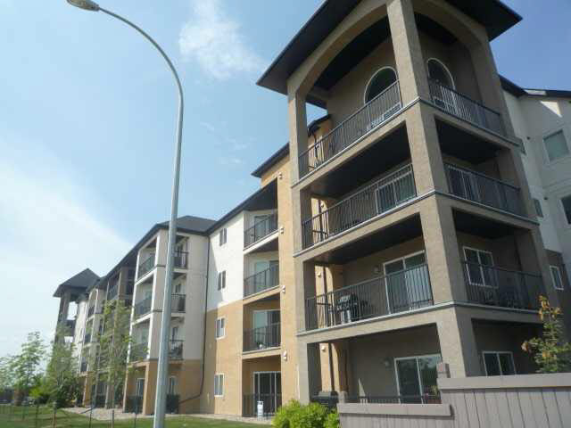 This hip condo has an efficient floor plan with everything that you need. It is an end unit located on the top floor with a large balcony. It has 2 bedrooms with the master bedrm providing a 4pc. ensuite along with a good sized walk- in closet. The second bedrm has lots of square footage and is in close proximity to the main bathroom. The main living space is open concept and offers a kitchen with eating bar, dining area and living room. It is tastefully decorated in rich colors with dark cabinetry with trendy fixtures. The kitchen is very spacious with stainless steel appliances and plenty of counter space with dark cappuccino cabinetry, pot drawers and very funky back splash with under cabinet lighting. There is also a laundry room with a stackable washer and dryer that is included. No more cold winter morning start ups with your vehicle, this unit comes with a heated underground parking stall that also has a storage area. The condo fees are cheap and include heat and water