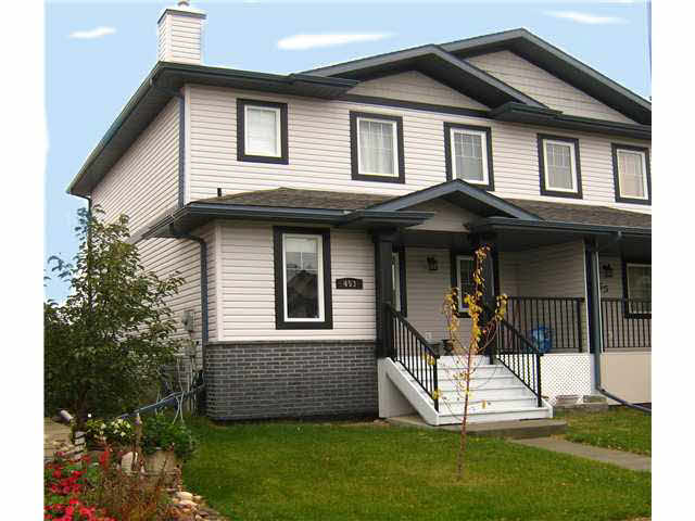 "Why rent when you can own this ""AS NEW"" nicely finished duplex in Leduc. No Condo fees, or Condo rules. The kitchen area is large, a nice feature, when preparing meals. The master bedroom has a large walk-in closet, room for all the clothes. This home comes with all the appliances so it is move-in ready. The basement is unfinished, you can develop as you want to meet your needs and when you want. The home is on a quiet street, with a playground nearby, handy if you have smaller children. There is room to park 2 cars on a graveled pad in the back yard, or room to build a garage with back alley access. If you are looking to own your first home, this is a great place to start."