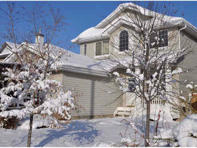 "Upscale 2 storey home located on a quiet street in the community of Glastonbury. This home has 3 bedrms & 3.5 bathrms. The main floor plan is bright with an open concept and offers a den, professional dining rm, large living rm and an eat- in kitchen with a breakfast nook. The convenient kitchen features an eating bar and a corner pantry with plenty of cabinetry. The patio doors in the breakfast nook lead to the deck that offers a great place to entertain and also backs onto a walking trail. The backyard is nicely landscaped and there is also a dog run. The upper level offers 3 bedrms, spa ensuite, and 4 pce. bathrm and a bonus rm. The garage is over-sized and a ""man's dream"" that has been dry walled, insulated, heated and contains a man door to the back yard & has epoxy floor coating. The basement is an absolute opportunity to make a suite or finish the way you want it.It is 75% with 9 ft. ceilings with a 4th bedrm, 2nd kitchen 3 pce. bathrm and a family rm. The ceilings are above 8 feet on all levels."