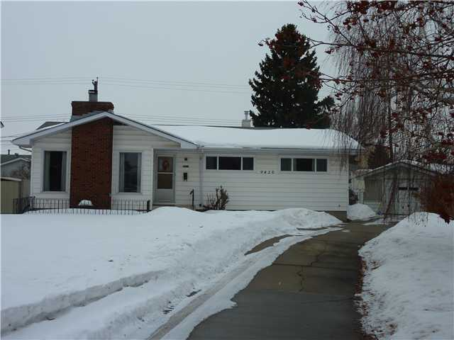 "Meadowlark Bungalow on the Mark. Solid 1154 sq.ft.3 + 1 Bedrooms.2 Bath. Premium Pristine Original Oak Hardwood Flooring.Feature ""Tyndall"" Wood Burning Fireplace in Living Room.Formal Dining Room.Bright Kitchen c/w ""Bow Window"" Eating Area.Upgrades over the years Windows(several 2010)Furnace(08')Hot Water(07')Plus + More.Mature Basement Dev.Generous Pie Lot 7026 sq.ft.West Yard. Single Detached Garage.Tucked in Location.9420- 162 St.Pride of Ownership. $ 325,000"