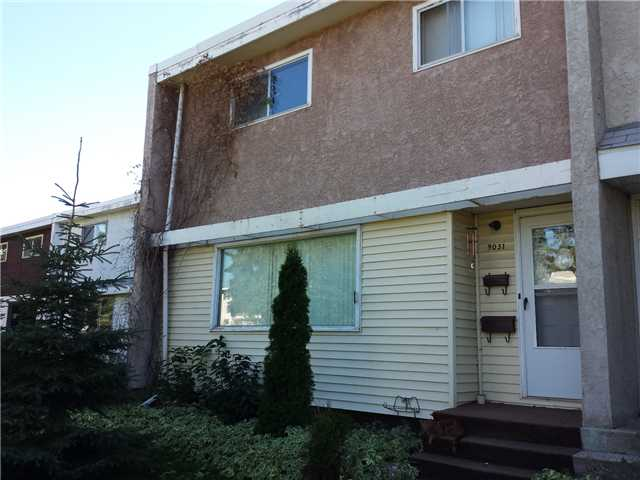 NO COND FEES and a NEW ROOF! Here's the perfect opportunity to own your own property. This 2 storey townhouse is great for families, Kitchen has ceramic tile & open eating/dining area. 3 bedrooms up & a 4 piece bath, Basement has family room,1 Den & a 3 piece bathroom with new shower. This well located home is close to transit, O'leary Pool, shopping and schools ranging from K-12 in both Public and Catholic School Systems. A large front park like common area is great for privacy and for kids to play.