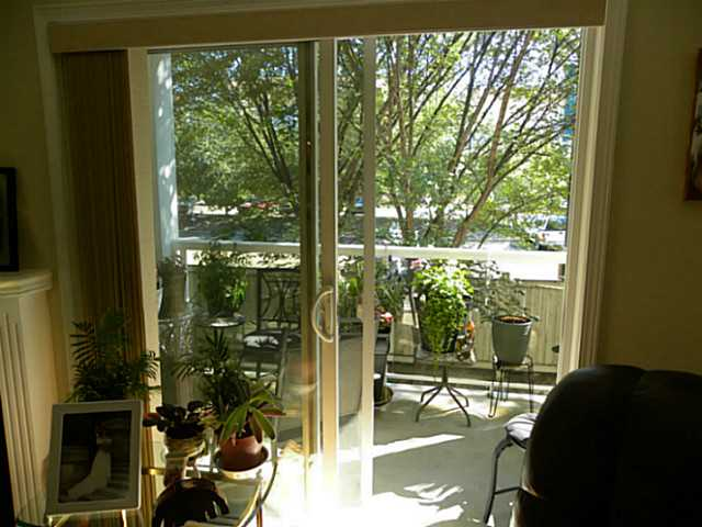 The patio doors lead to the east facing balcony where you can enjoy your morning coffee.