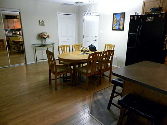 There is space for a large dining room table at the entrance of the unit.