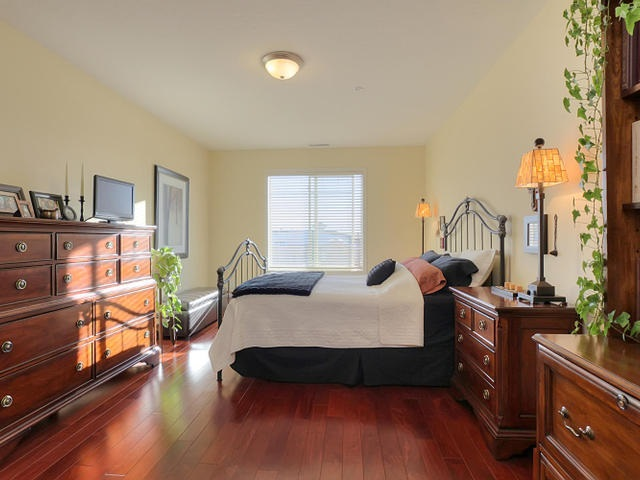 Imagine the space in this master bedroom left after you place a king sized bed, two dressers, two end tables and you can still add a couple of chairs or a chaise by the window.