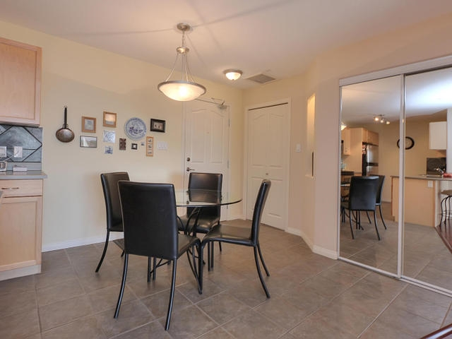 The dining are is conveniently placed next to the kitchen.