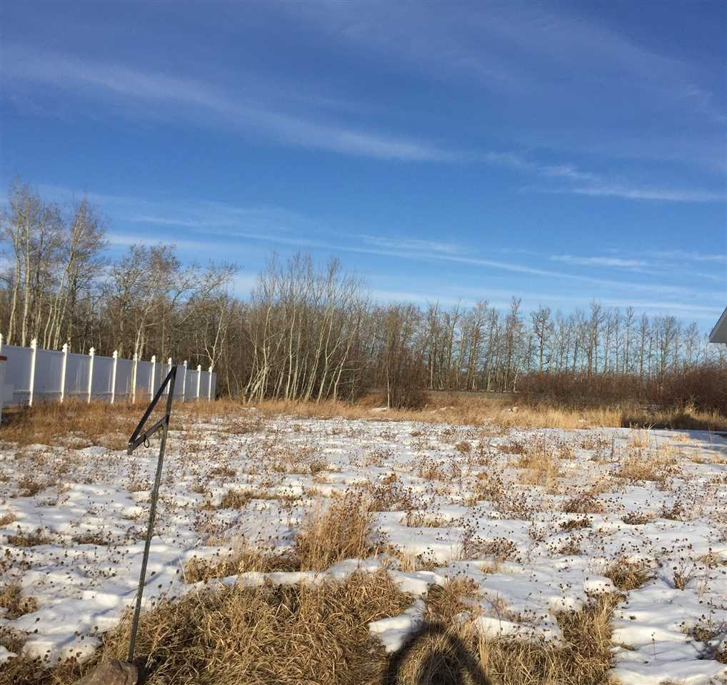 Great location in the quiet community of New serepta, Backs a green space.  lot size is approximate 60' x 120' paved, serviced , sidewalks, very close to the school, arena, and shopping, 30 min to edmonton .  owner is also a builder that will draw up your plans and build your dream home.