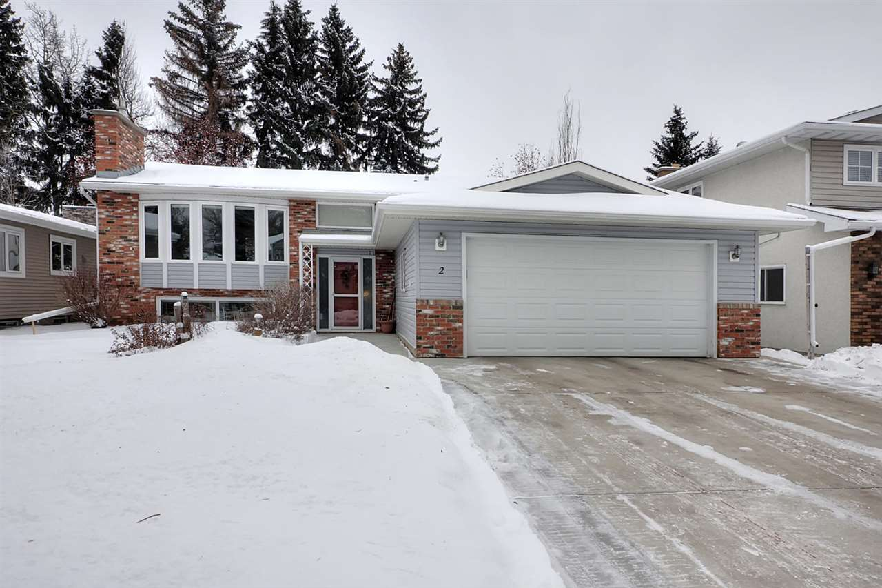 PRIDE OF OWNERSHIP shows in this inviting 1355 ft2 bi level in mature Grandin that is located on a quiet cul de sac.  MAJOR RENOVATIONS (within last 10 yrs) include all doors +windows, siding, fixtures, stainless steel appliances, updated bathrooms and kitchen, hardwood flooring, hi eff. furnace, shingles, garage and fixtures. The kitchen has light maple cabinets, new counter tops and backsplash. The main bathroom has a new deep soaker tub with tile surround and a new quartz top vanity (another is in the 3 pce. en suite). The L shaped living/dining room has a large bay window at the front and French doors at the back. There are 3 bedrooms on the main floor.  The lower level (with dual stairwells and direct entry to garage) has large windows throughout, another2 bedrooms plus a 3 pce. bathroom.  The  family room has a cozy gas fireplace and will easily hold large gatherings. The laundry room features great storage options plus a soaker tub. The new  driveway + lawn enhance the great landscaping.