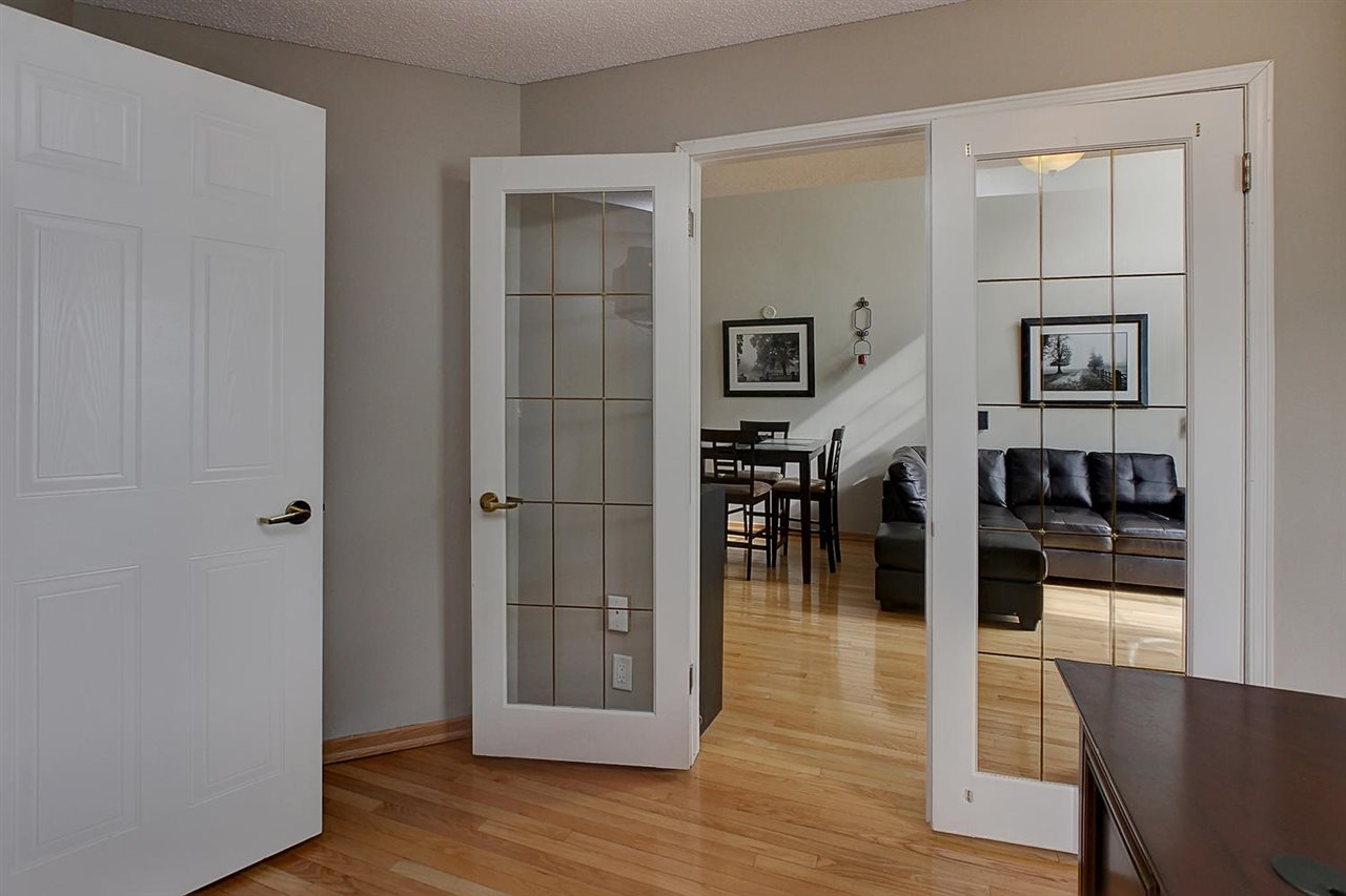 Double French doors lead from the living area to the den or second bedroom for your convenience and to allow extra light to flow from room to room.