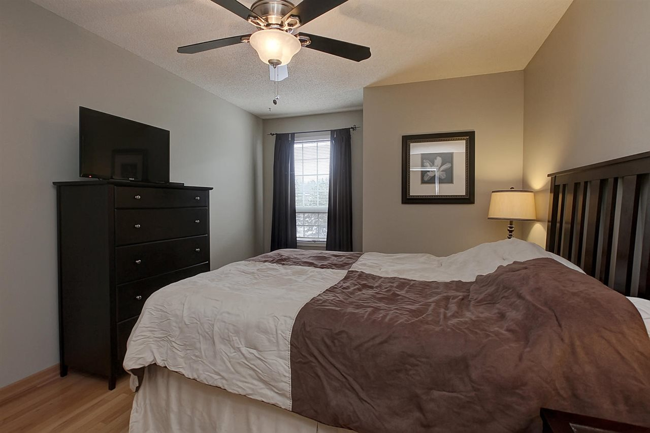 The large Master bedroom can hold your king sized bed and other bedroom furniture. The south facing window brings the light in..